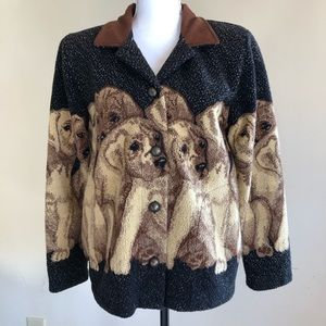 County Clothing Co. Vintage Lab Puppy Fleece Sz S